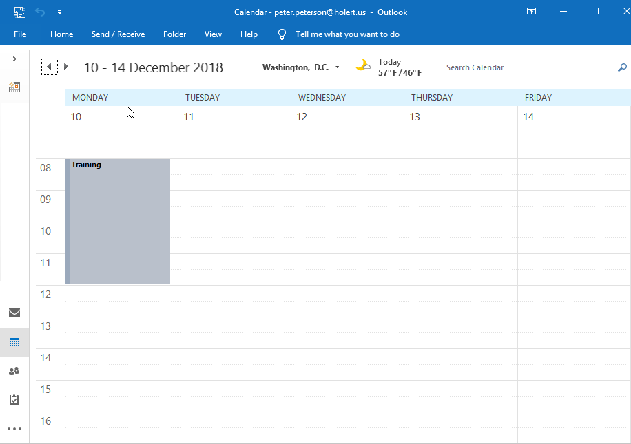 Postsync Outlook Calendar View